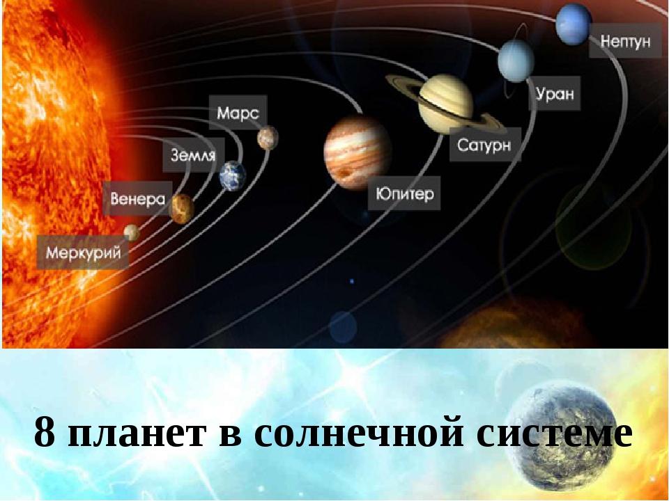 8 планет в солнечной системе
