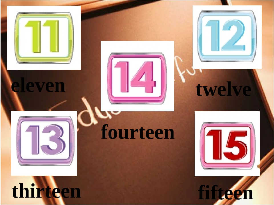 eleven twelve thirteen fifteen fourteen