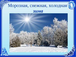 Морозная, снежная, холодная зима