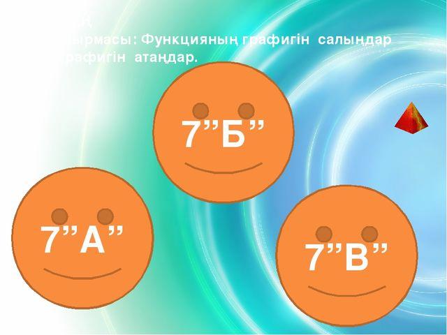 3 - КЕЗЕҢ  Үй тапсырмасы: Функцияның графигін салыңдар және графигін атаңда...