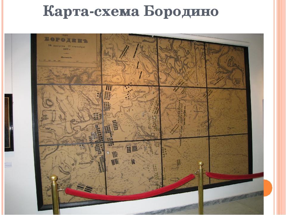 Карта-схема Бородино