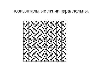 горизонтальные линии параллельны.