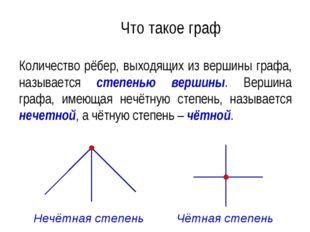 Что такое граф Количество рёбер, выходящих из вершины графа, называется степе