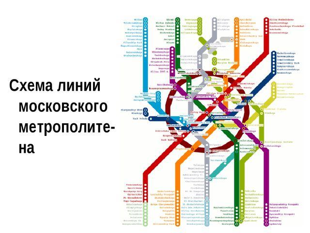 Схема линий московского метрополите-на