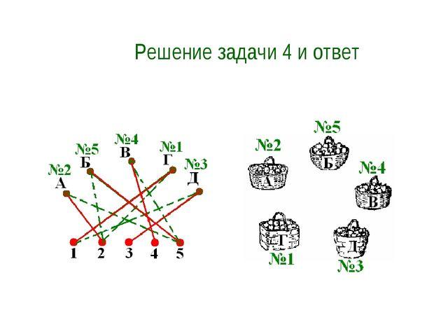Решение задачи 4 и ответ