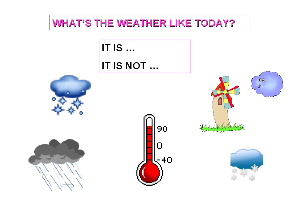 IT IS … IT IS NOT … WHAT'S THE WEATHER LIKE TODAY?