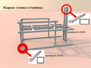 Каркас станка (станина) профтруба 20х20 профтруба 20х40