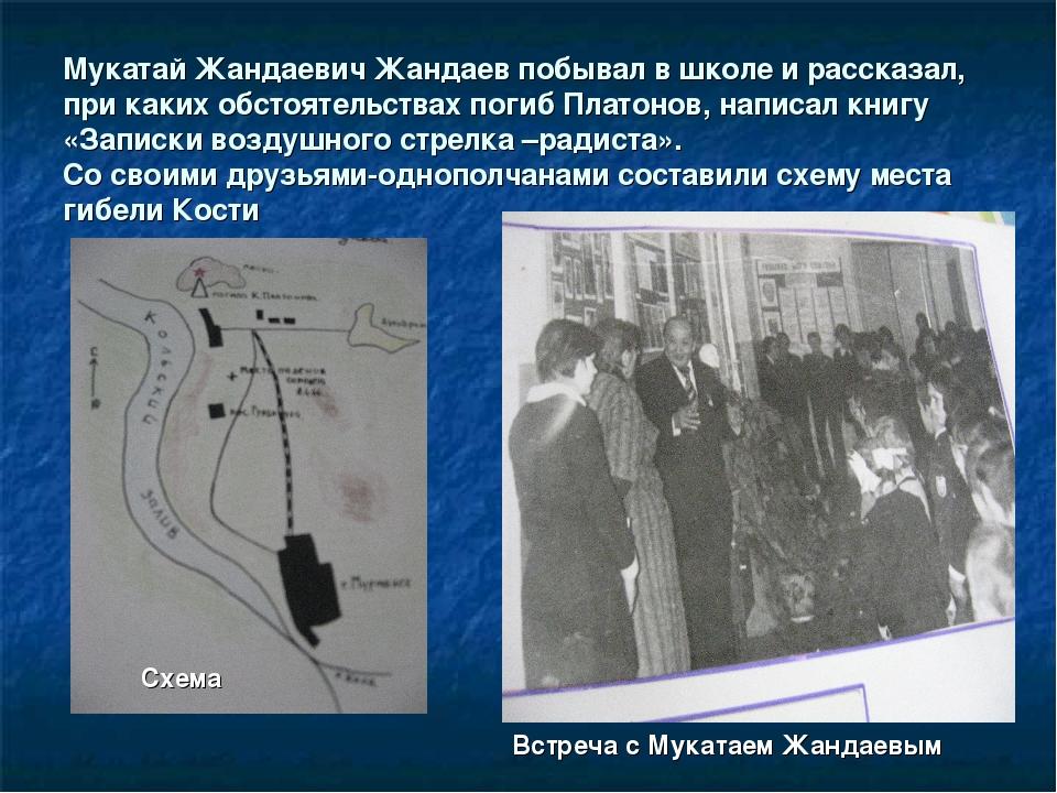 Мукатай Жандаевич Жандаев побывал в школе и рассказал, при каких обстоятельст...
