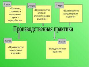 «Приемка, хранение и подготовка сырья к переработке» Преддипломная практика «