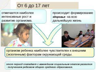 организм ребенка наиболее чувствителен к внешним (экзогенным) факторам окруж