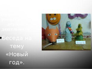 Организованная деятельность в разных видах детской деятельности Беседа на тем
