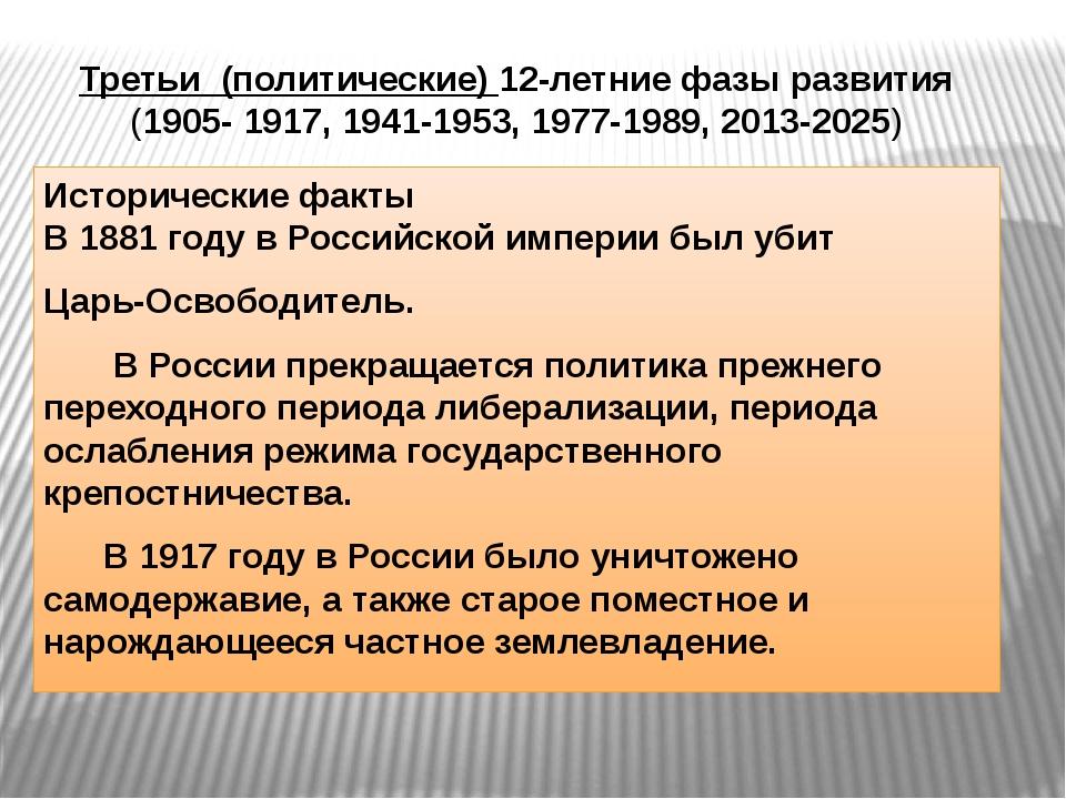 Исторические факты В 1881 году в Российской империи был убит Царь-Освободите...