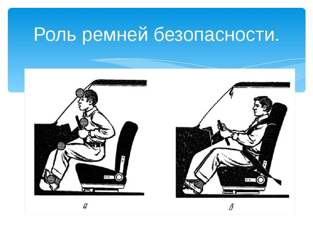 Роль ремней безопасности.
