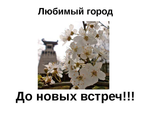 Любимый город До новых встреч!!!