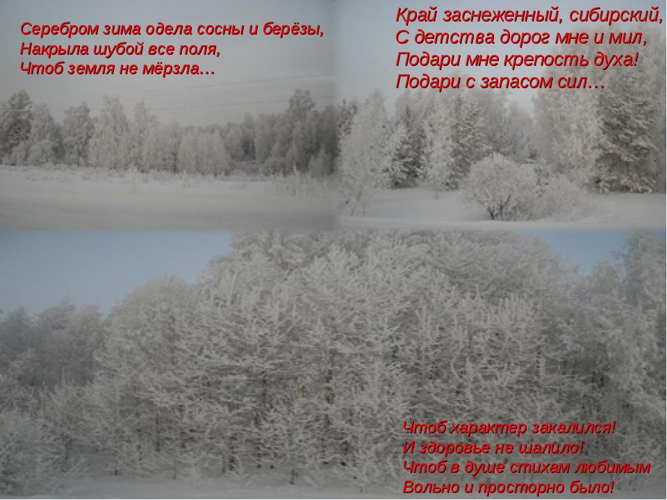 Серебром зима одела сосны и берёзы, Накрыла шубой все поля, Чтоб земля не мёр...