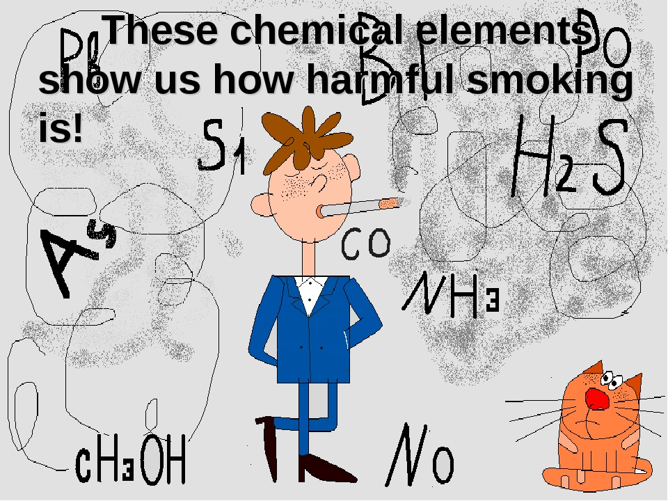 These chemical elements show us how harmful smoking is!