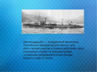«Беспощадный» — эскадренный миноносец Российского Императорского флота типа «