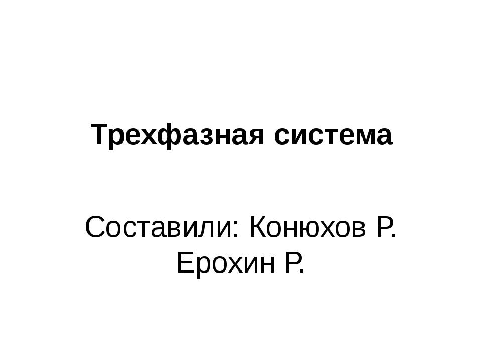 Трехфазная система Составили: Конюхов Р. Ерохин Р.
