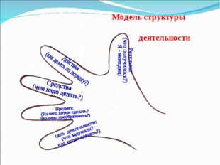 Модель структуры деятельности