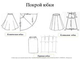 Покрой юбки Коническая юбка Прямая юбка Клиньевая юбка «Снятие мерок для пост