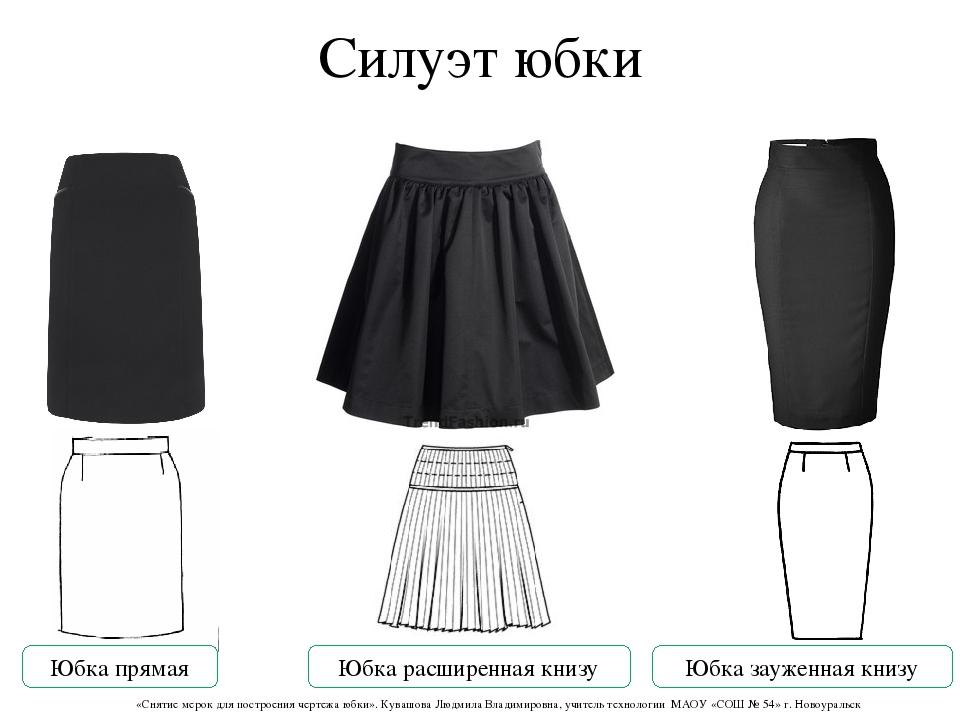 Основа юбки по