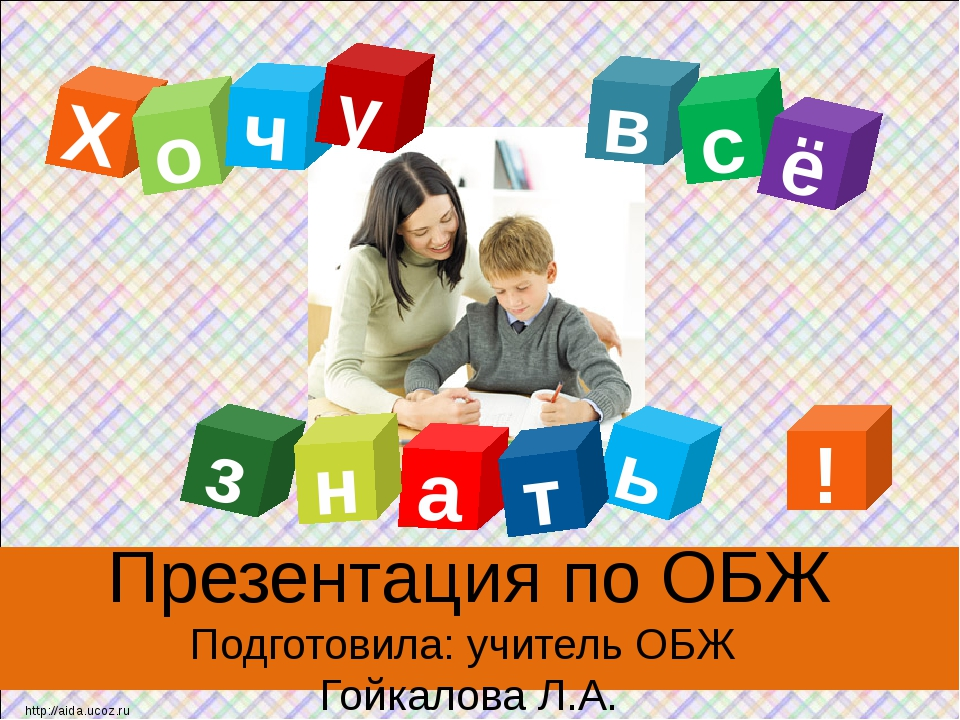 Презентация по ОБЖ Подготовила: учитель ОБЖ Гойкалова Л.А. Х в о а ь ч т с з...