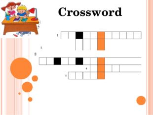 3 Crossword 1 2 4 5