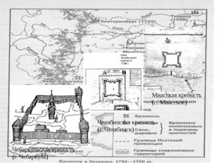 Строительство крепостей – на Урале, 1736 г. Миасская крепость (с. Миасское)