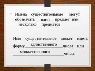 Имена существительные могут обозначать _________предмет или ____________ пред