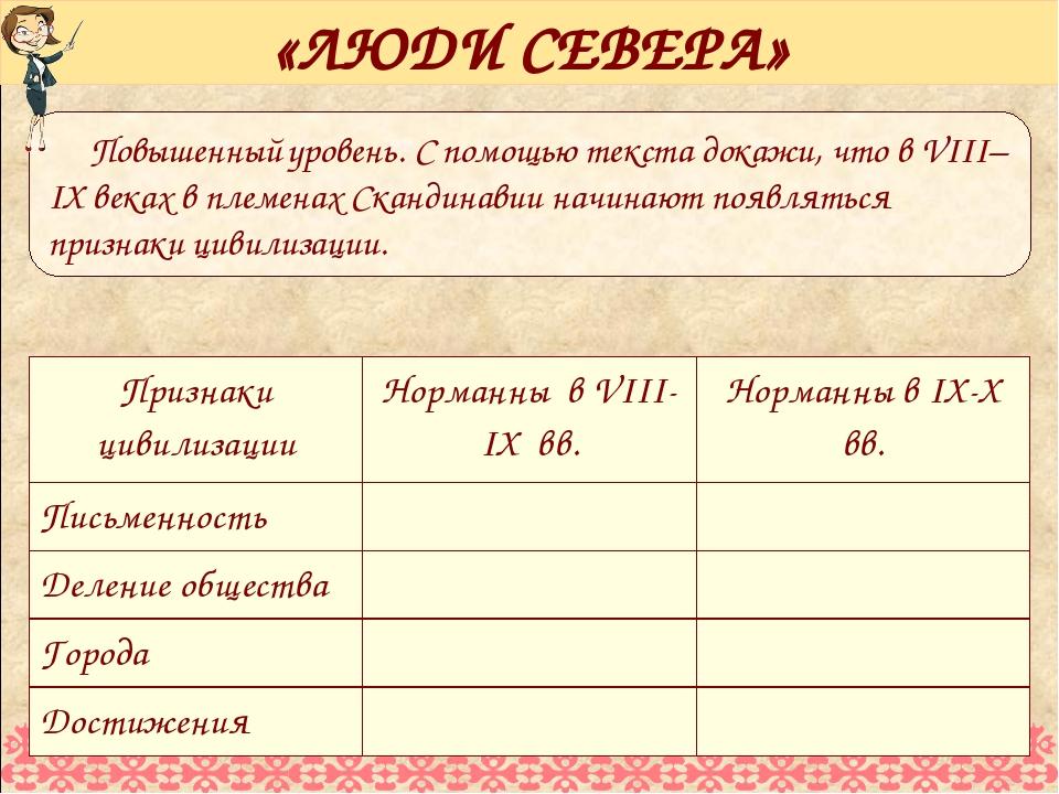 Повышенный уровень. С помощью текста докажи, что в VIII–IX веках в племенах С...