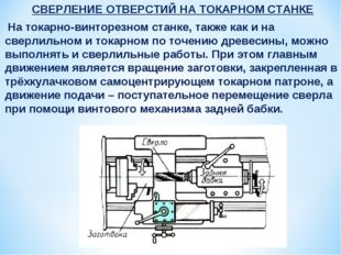 СВЕРЛЕНИЕ ОТВЕРСТИЙ НА ТОКАРНОМ СТАНКЕ На токарно-винторезном станке, также