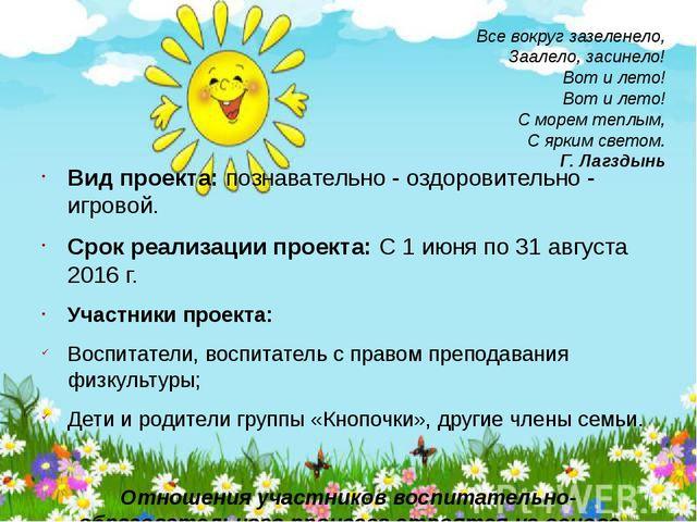 Все вокруг зазеленело, Заалело, засинело! Вот и лето! Вот и лето! С морем теп...