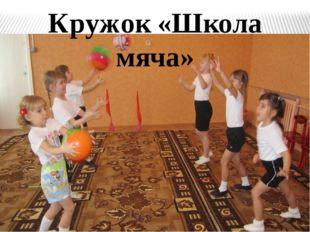 Кружок «Школа мяча» Для реализации потребности детей в движении в нашем детск