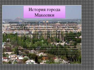 Макеевка - один из крупных индустриальных городов Донбасса. Расположен в юго