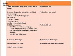 5 form III этап Действия учителя Действия ученика I. Read and find the thing