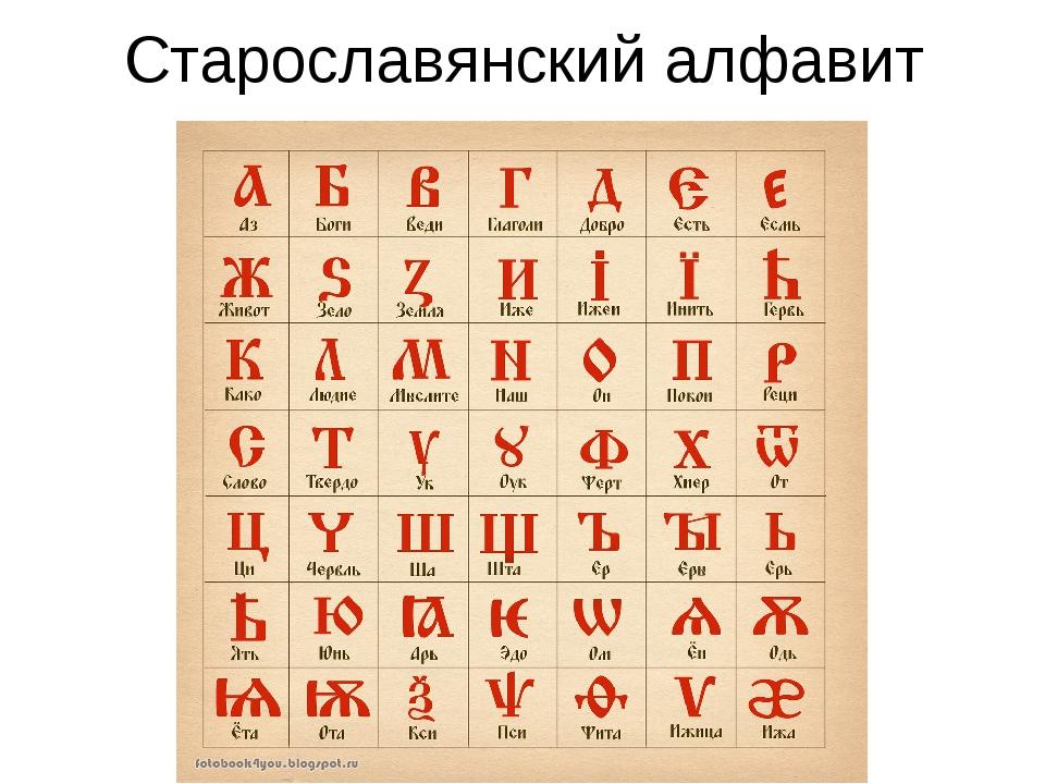 Картинки старославянского алфавита