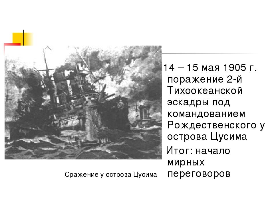 14 – 15 мая 1905 г. поражение 2-й Тихоокеанской эскадры под командованием Ро...