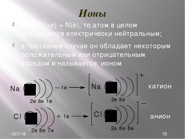 Ядро атома (нуклид) характеризуется: 40Ar 18 Массовое число (А) – сумма масс...