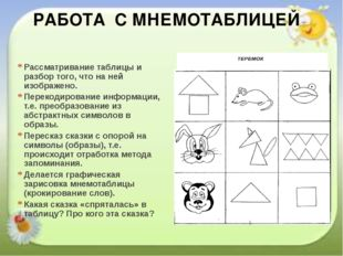 Рассматривание таблицы и разбор того, что на ней изображено. Перекодирование