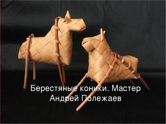 Берестяные коники. Мастер Андрей Полежаев