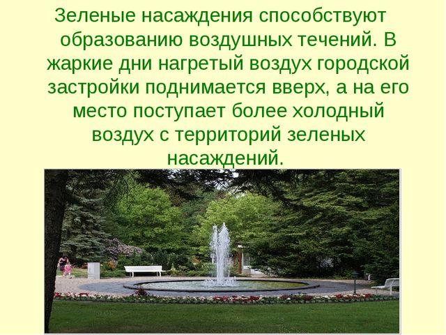 Зеленые насаждения способствуют образованию воздушных течений. В жаркие дни н...