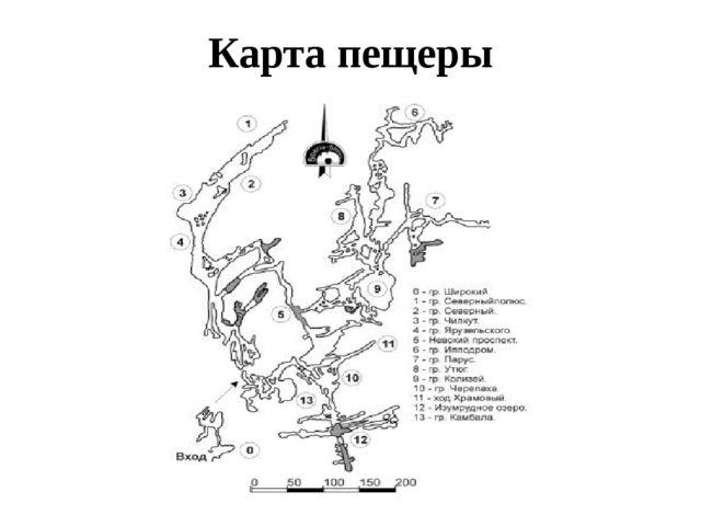 Карта пещеры