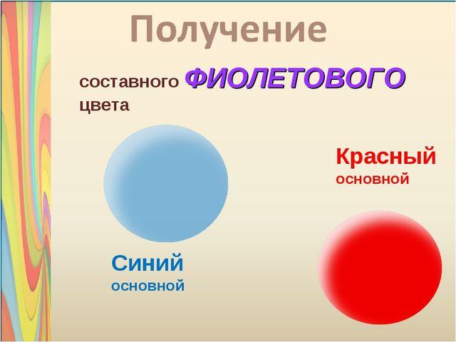 составного ФИОЛЕТОВОГО цвета Красный основной Синий основной