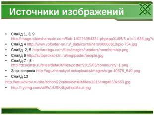 Источники изображений Слайд 1, 3, 9 http://image.slidesharecdn.com/5ob-140226