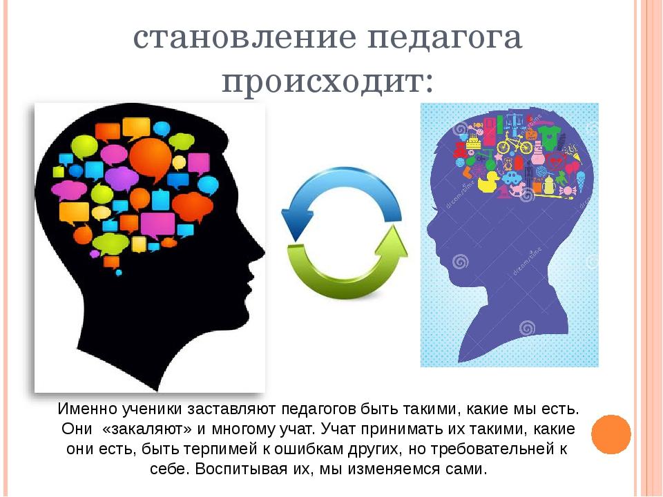 становление педагога происходит: Именно ученики заставляют педагогов быть так...