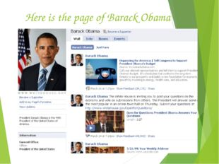 Here is the page of Barack Obama