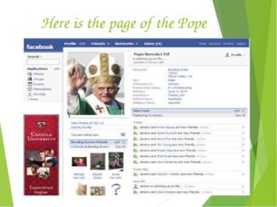 Here is the page of the Pope