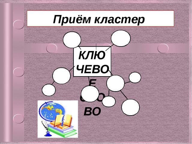 КЛЮЧЕВОЕ СЛОВО Приём кластер