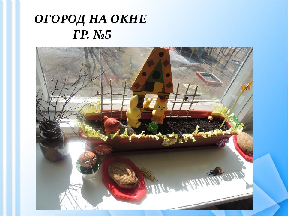ОГОРОД НА ОКНЕ ГР. №5
