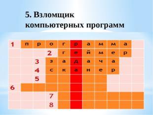 5. Взломщик компьютерных программ